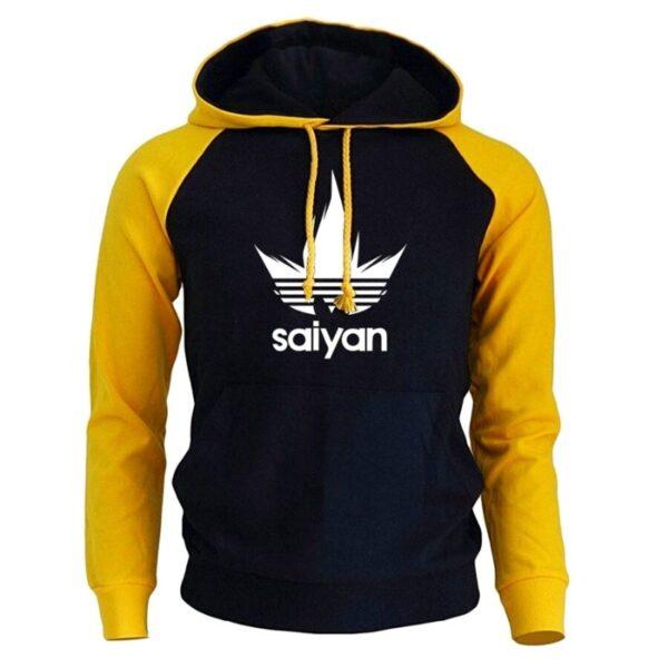 saiyan vegeta adidas yellow hoodie