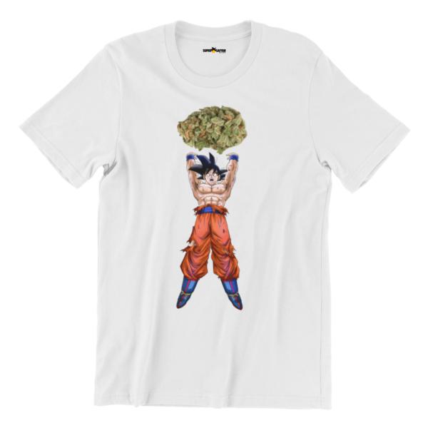 goku weed genkidama drip white t shirt 3