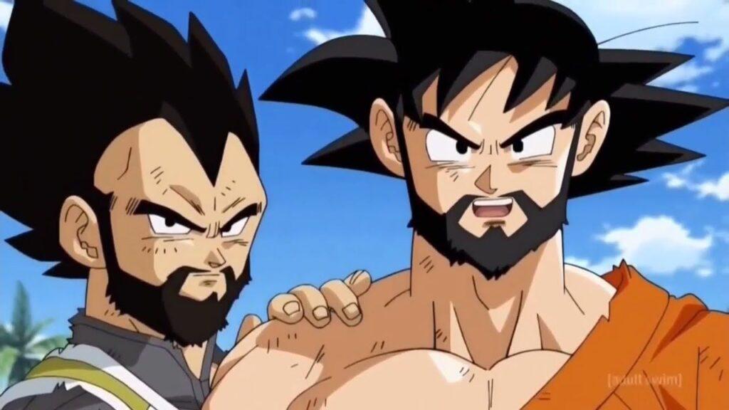 goku and vegeta with beard
